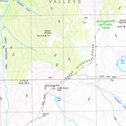 Map Of Australia Mt Kosciuszko.The Sentinel Bushwalking Nsw